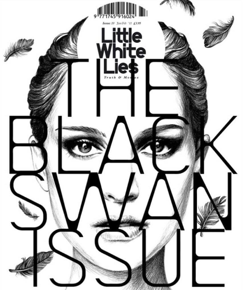 Magazine design with bold typography