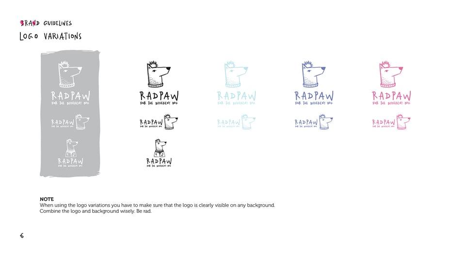 Brand guidelines logo variations