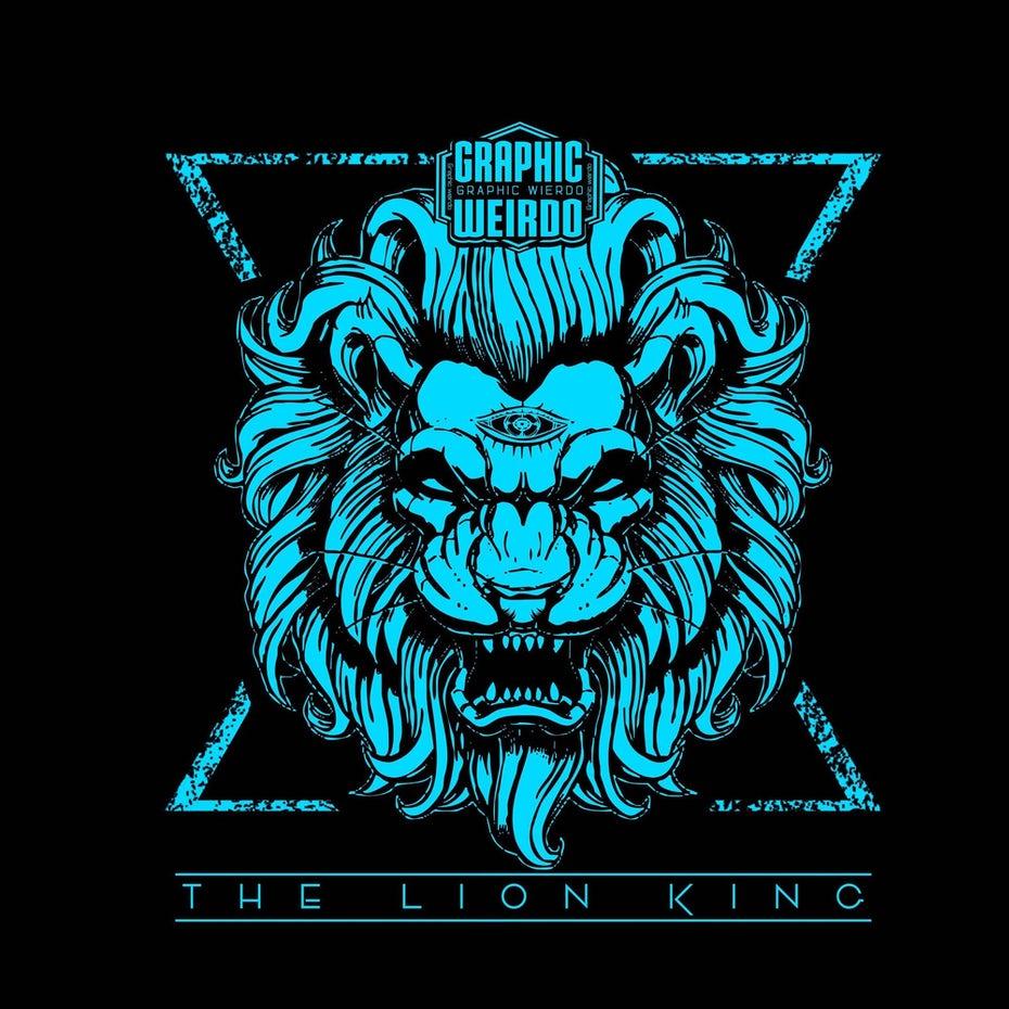 bad logo design of the Lion King