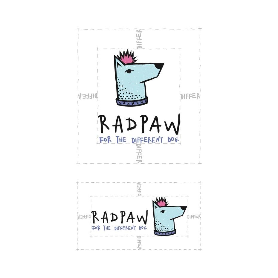 Radpaw logo differ sizing