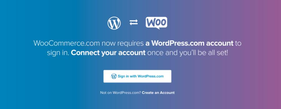 WooCommerce.com Now Requires A WordPress.com Account