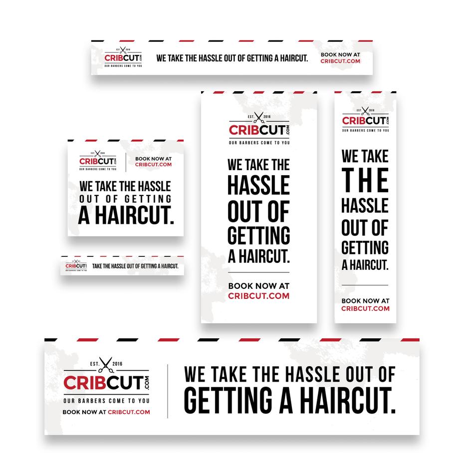 Haircut banner ad design