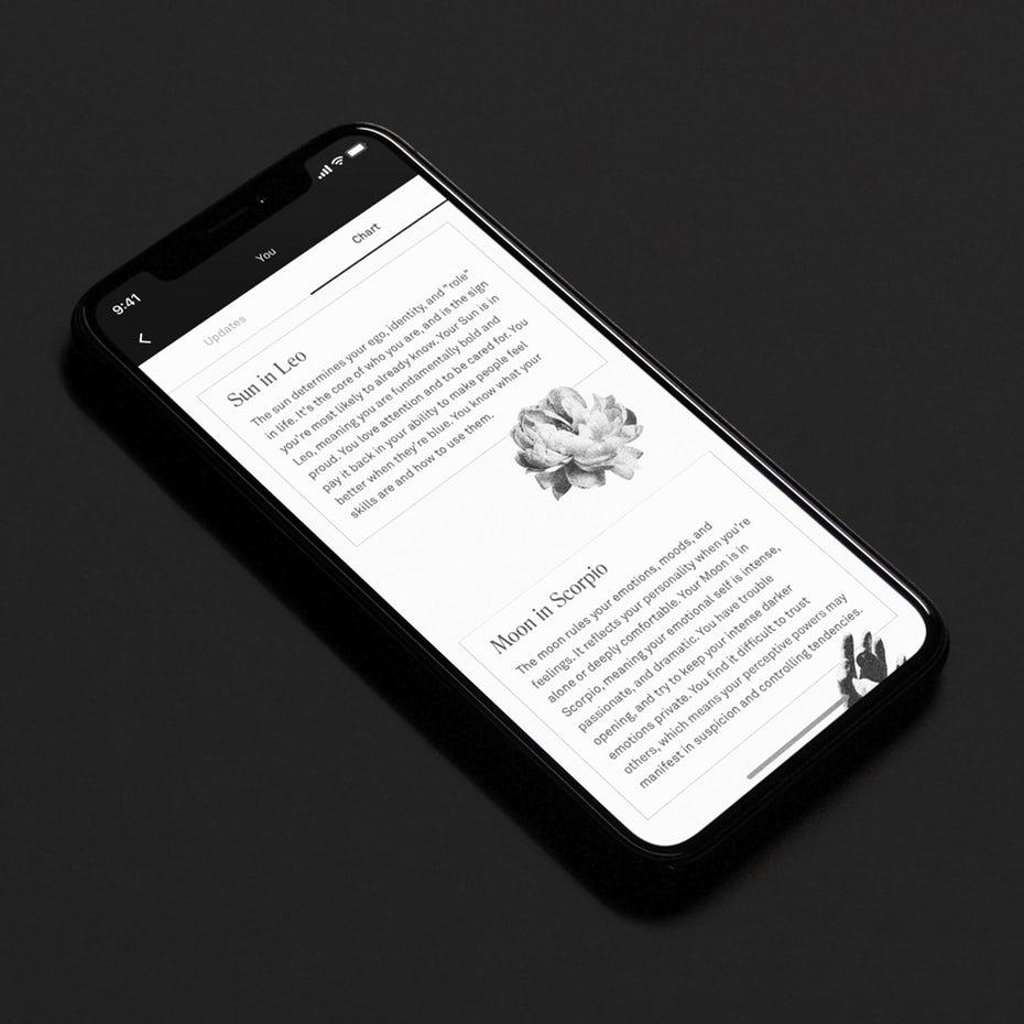 Black and white app design
