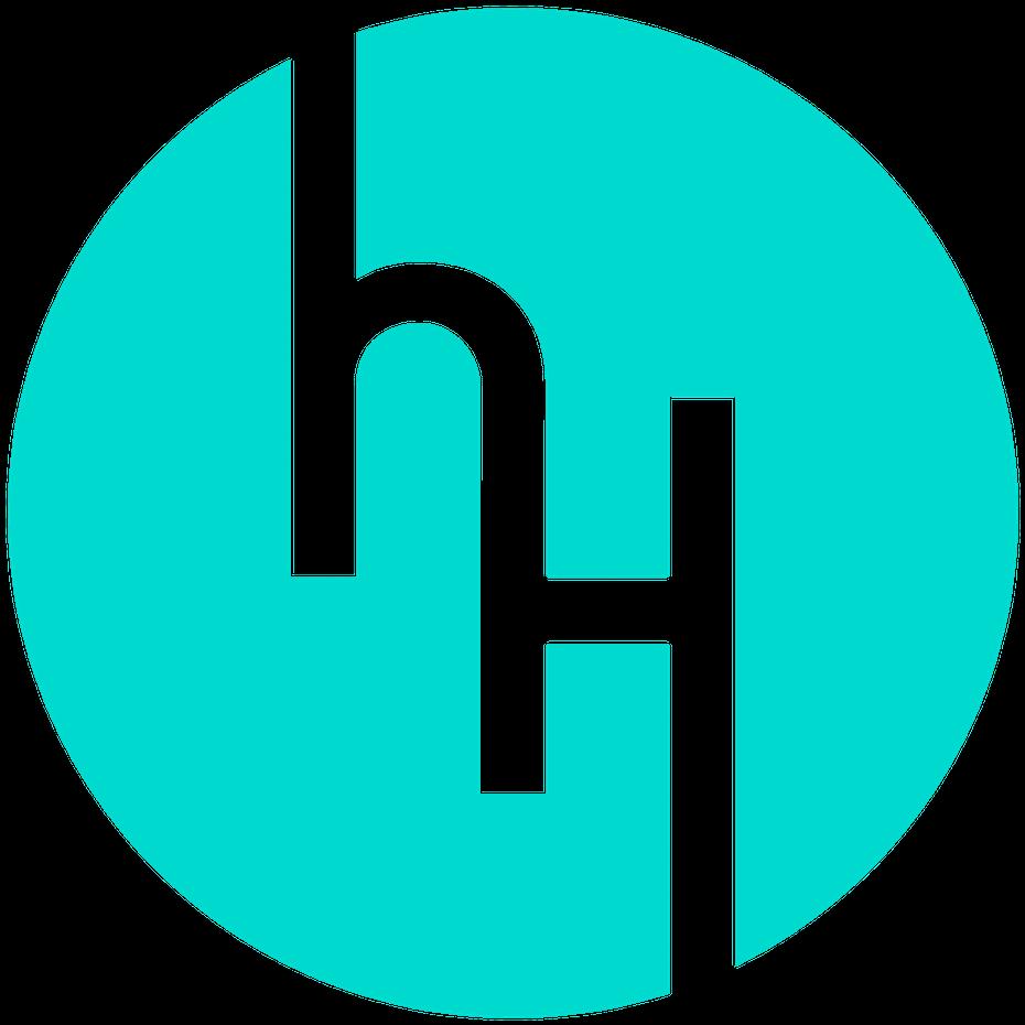 Blue circular logomark