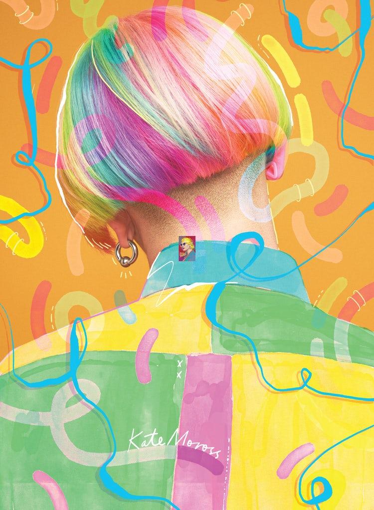 Kate Moross colorful poster design