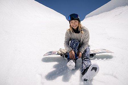 Photo of Olympic snowboarder Chloe Kim
