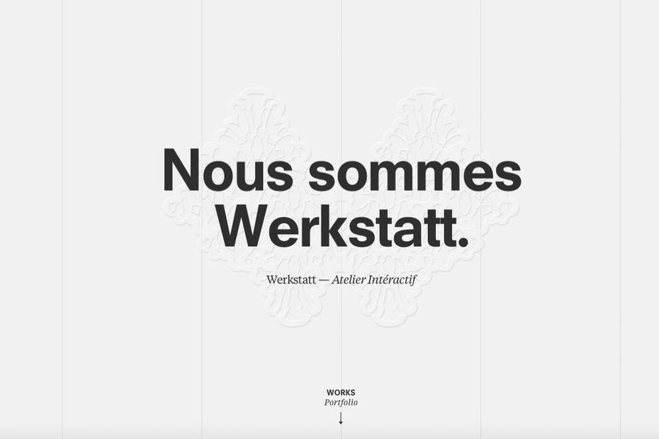 Werkstatt web design