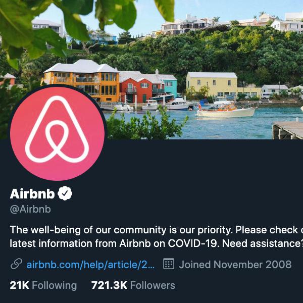 Airbnb's Twitter avatar