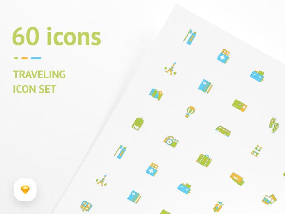 Free travel icon set