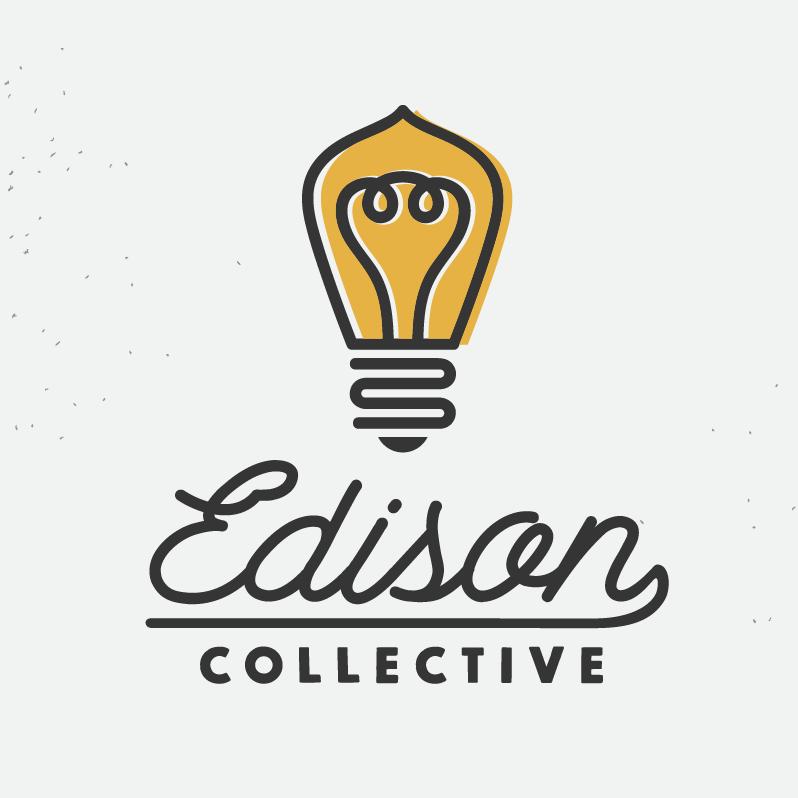 stylized edison light bulb