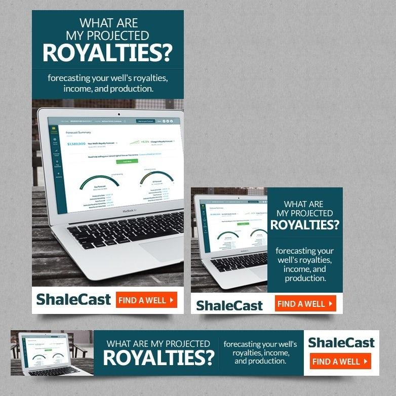 ShaleCast banner ad design