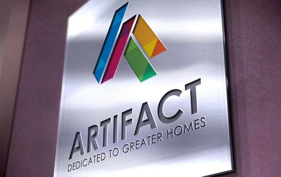 Multicolored geometric logo