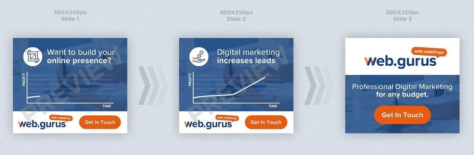 WebGurus banner ad design