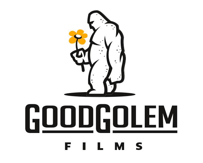 giant holding flower logo