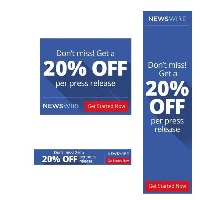 NewsWire banner ad design