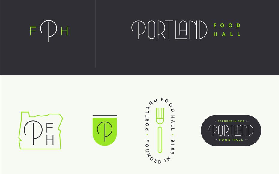 Hair serif typographic logo design