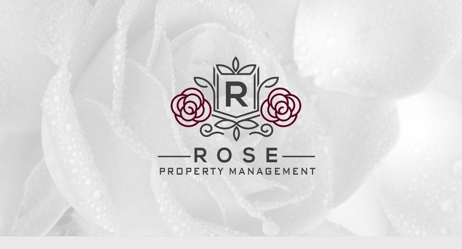 Logo with elegant line work