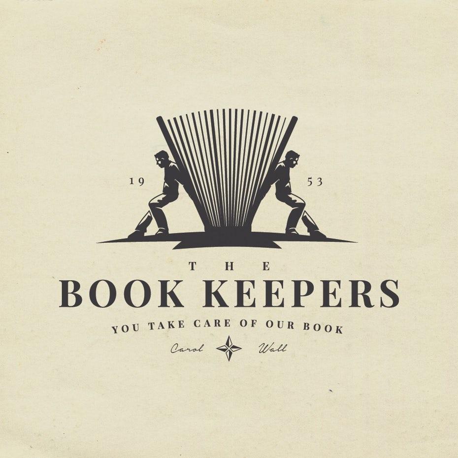 book keeper logo design