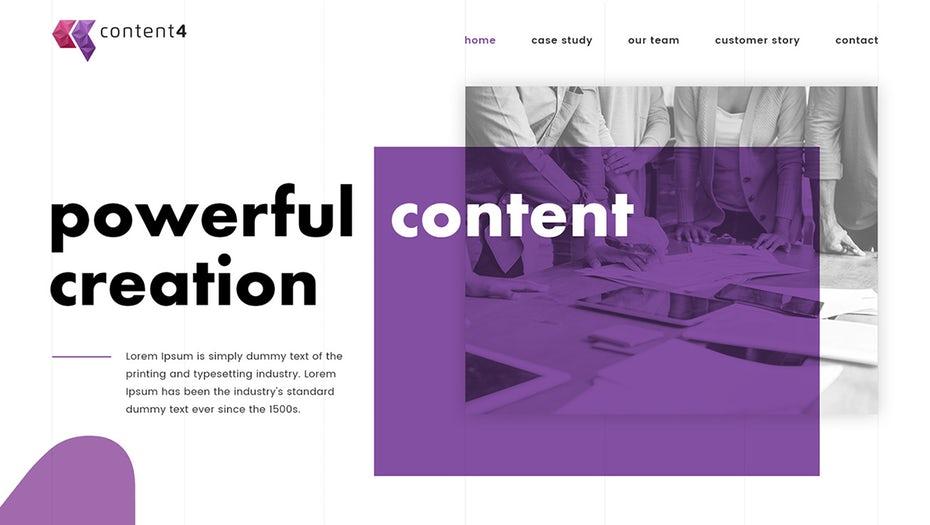 content4 web dessign