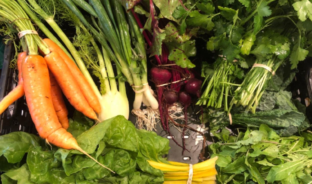 veggie basket from Eden East