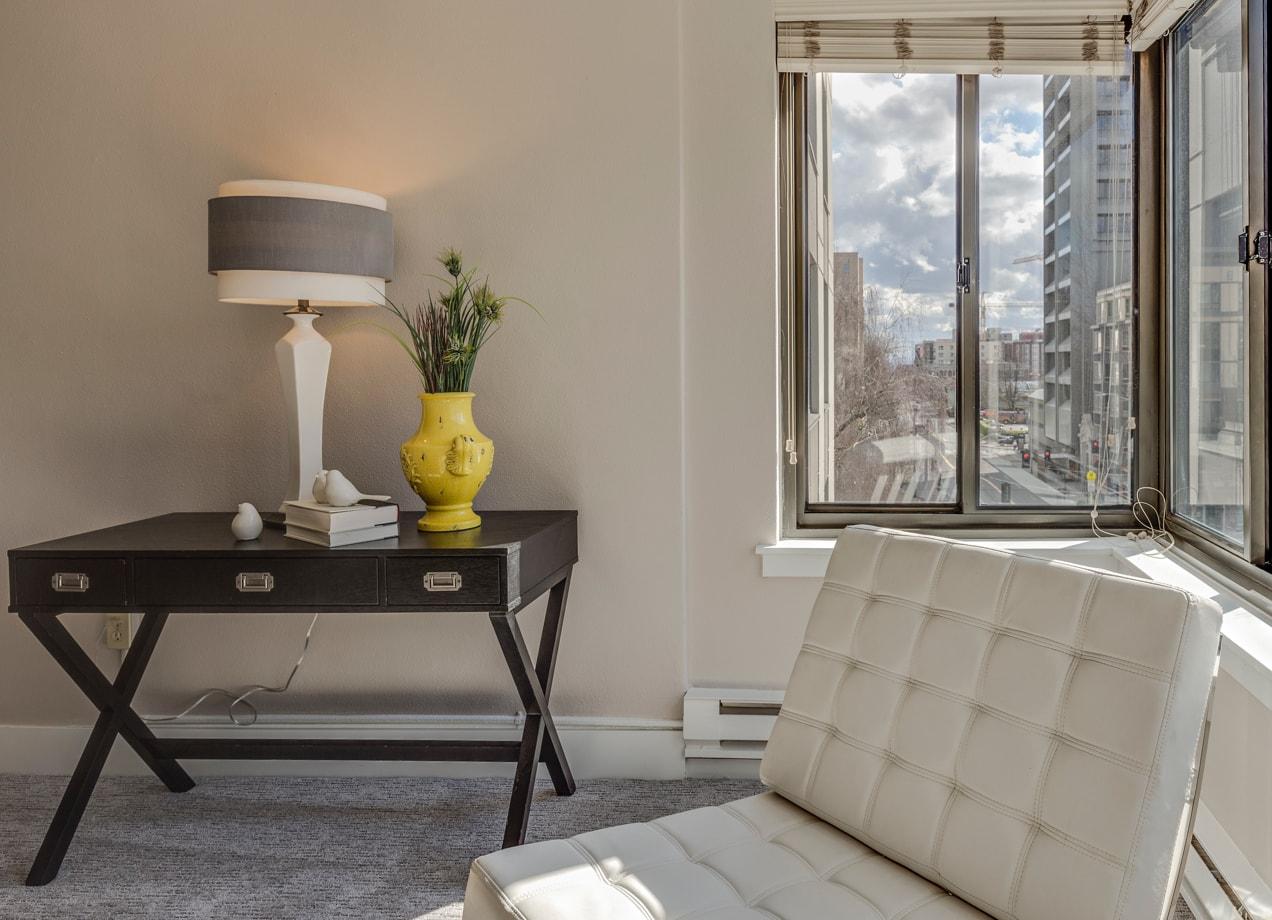 modern condo decor in a small space