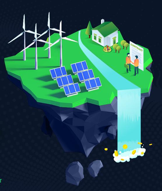 illustration of land with solar panels
