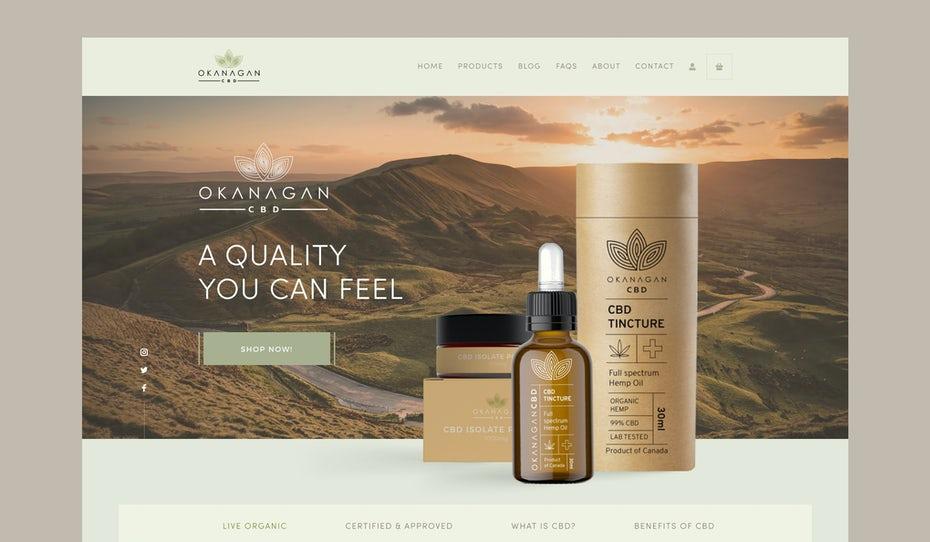 elegant and natural cbd web design