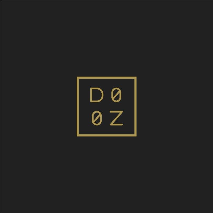 minimalistic square restaurant logo