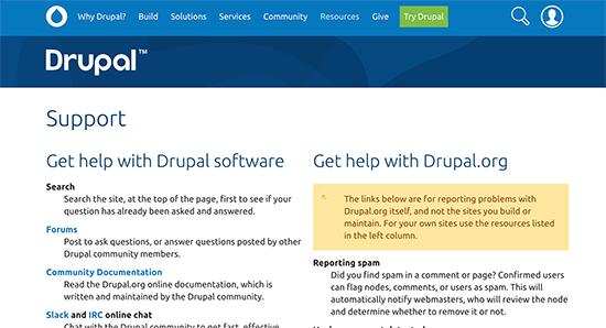 Drupal community support
