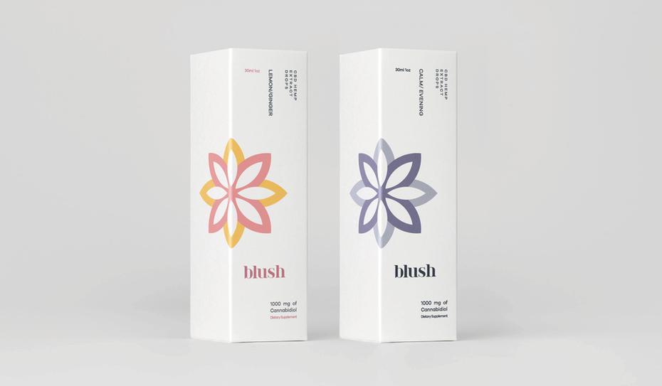 minimal cbd packaging and logo