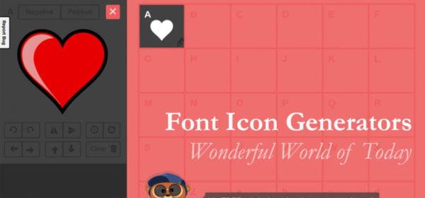 Glyphter.com Font Icon Generator Online Service
