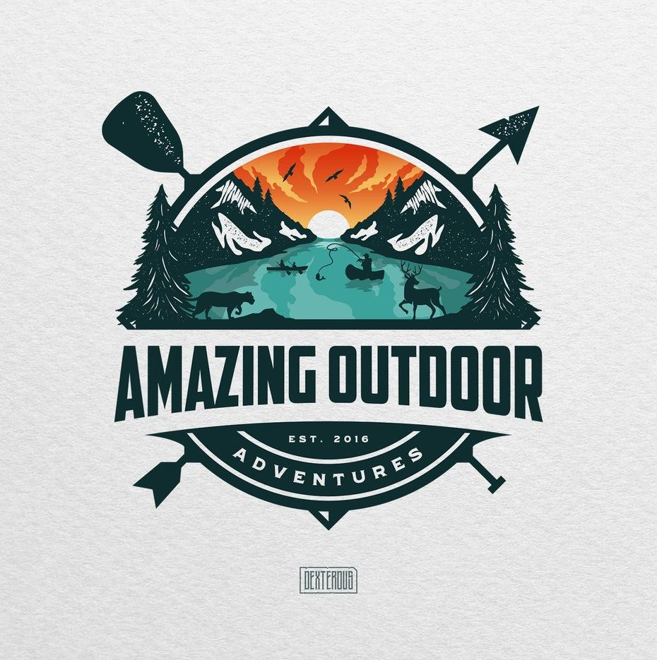 logo design for Amazing Outdoor