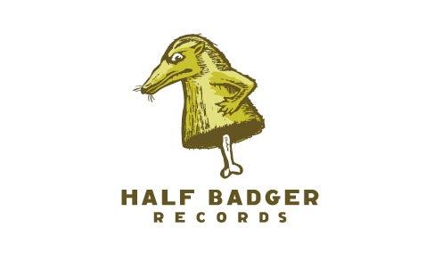 bad logo design of Half Badget Records