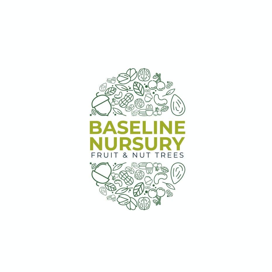 bad logo design of Baseline Nursery