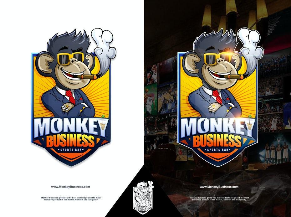 bad logo design of Monkey Business
