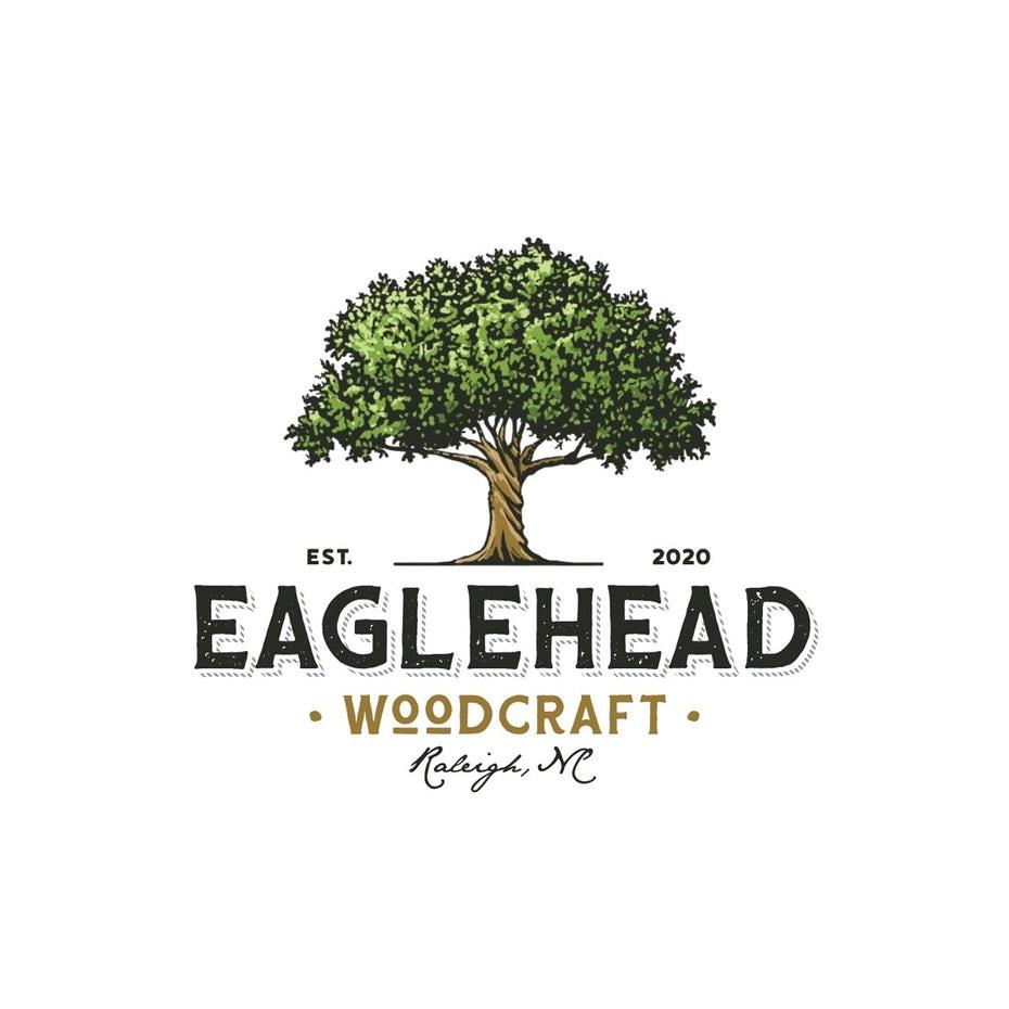 logo design for Eaglehead Woodcraft