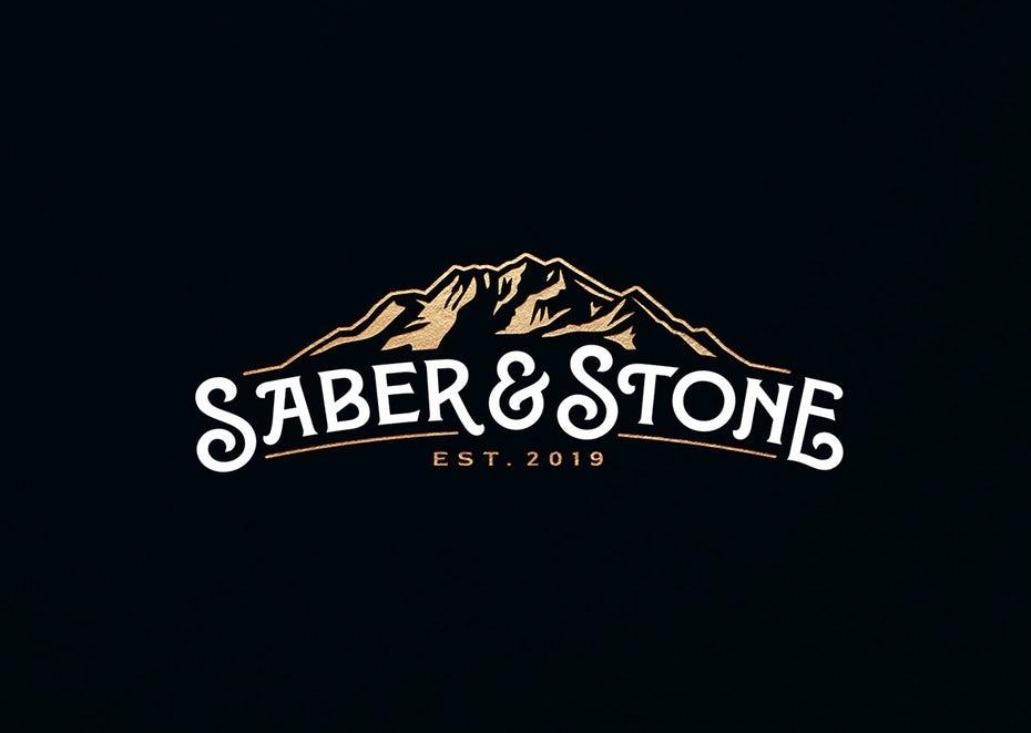 bad logo design of Saber & Stone