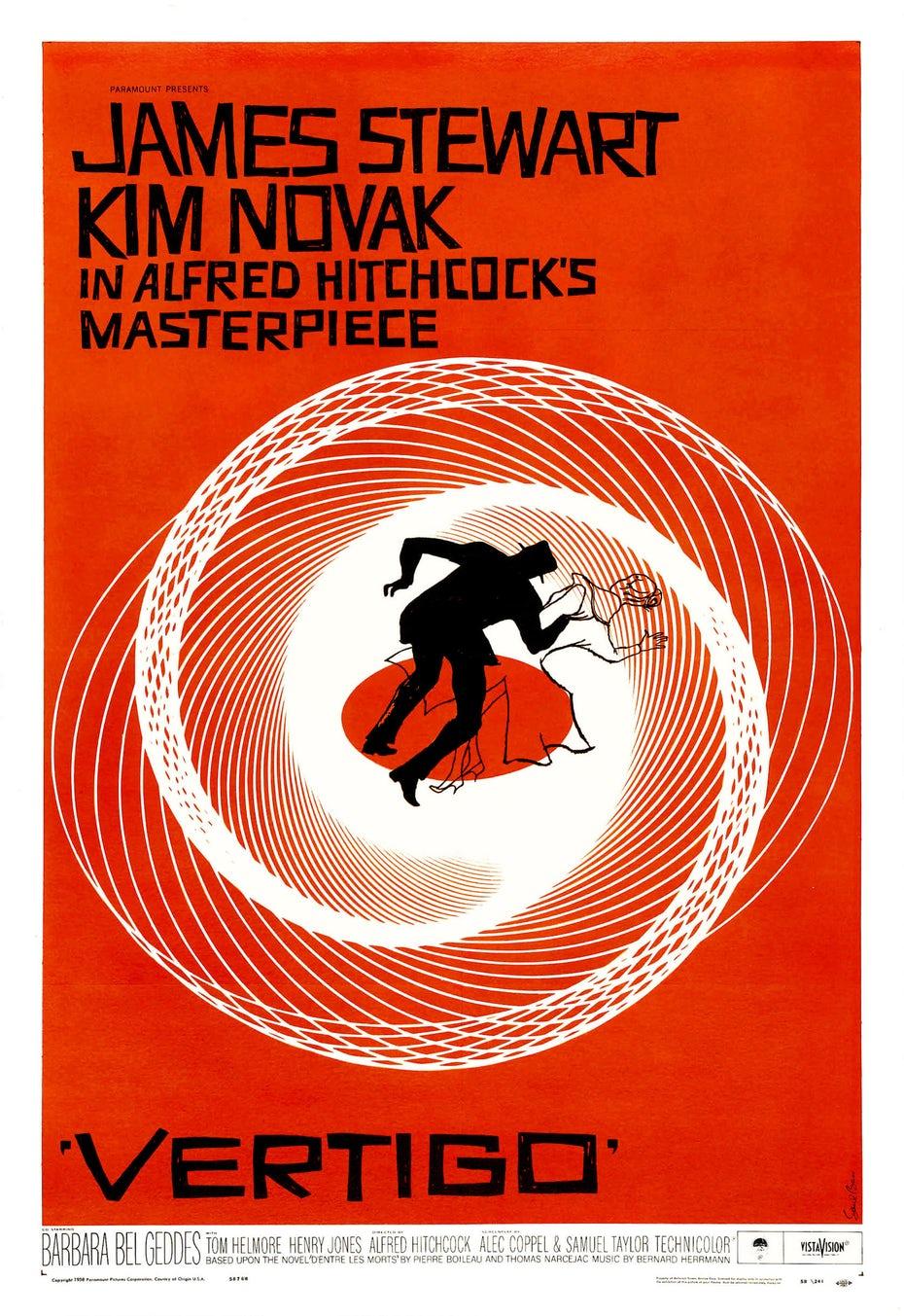 Vertigo poster design by Saul Bass