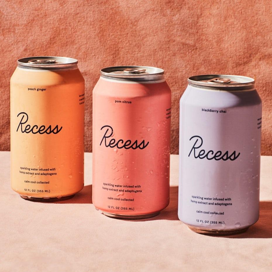 Pastel drink packaging
