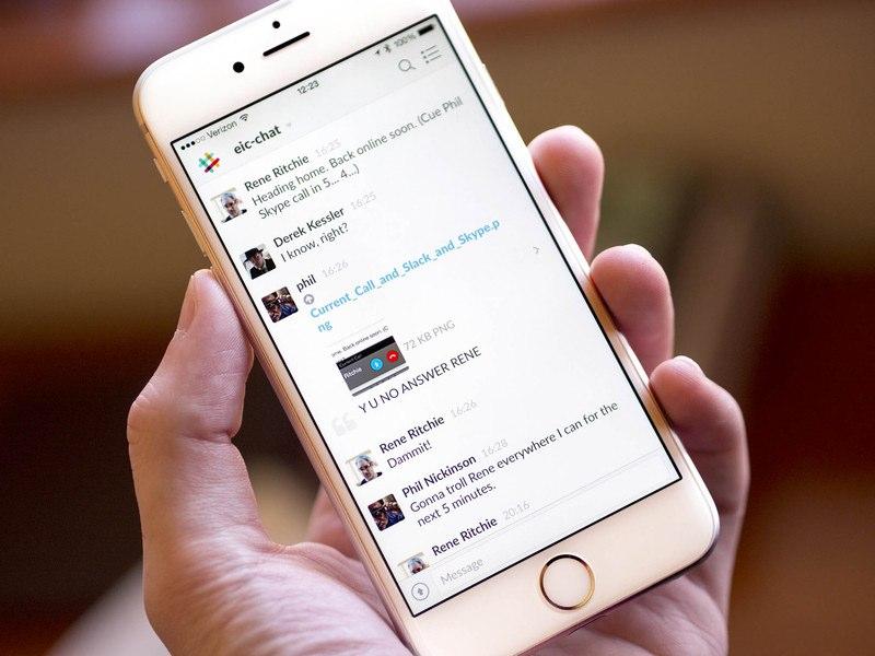 Slack phone app