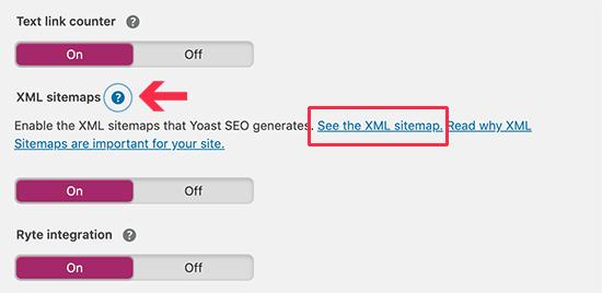 View your XML sitemap