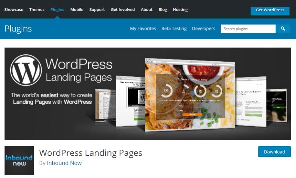 wordpress-landing-pages -screenshot