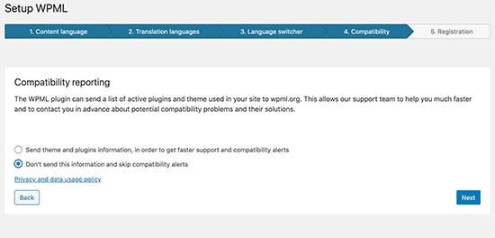 WPML compatibility report
